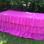 Ruffled Tablecloth Different Colors..