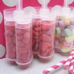 6 Heart Push Pop Containers